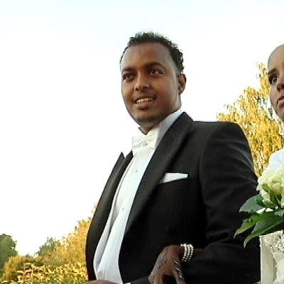 Hääpari Zimba ja Rukiyo Ade.