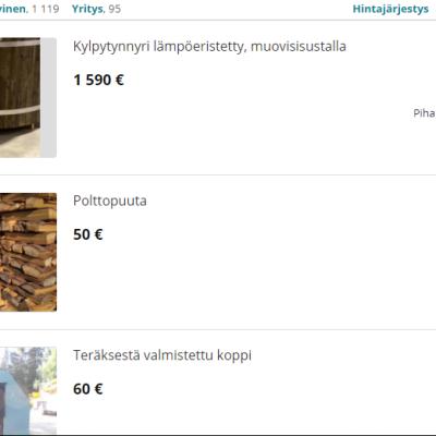 Kuvakaappaus Tori.fi:n sivuilta.
