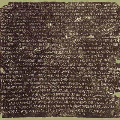 Senatus consultum de bacchanalibus - Rooman senaatin päätöslauselma bakkanaaleista