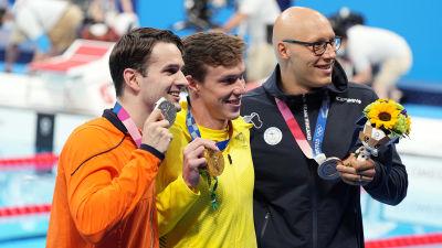 Matti Mattsson med medalj i Tokyo.
