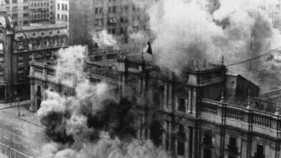 Bomber över Santiago de Chile 11 september, 1973