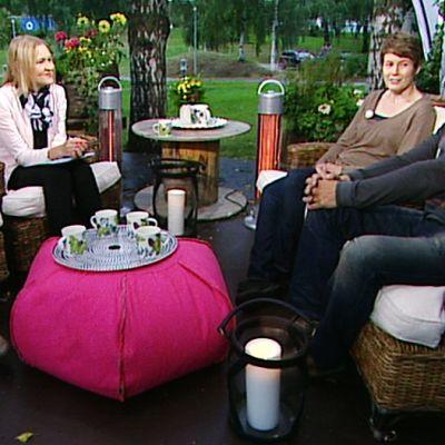 Minna Dufton (vas.), Sanne Seppälä ja Hermanni Nieminen.
