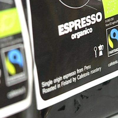 Reilun kaupan kahvia.