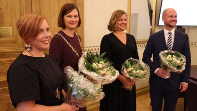 Bild på nya borgmästare i Åbo.