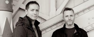 Manusförfattarna Nick Ostler och Mark Huckerby.