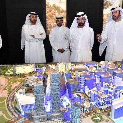 Modell av det planerade nöjes- och shoppingkomplexet i Dubai.