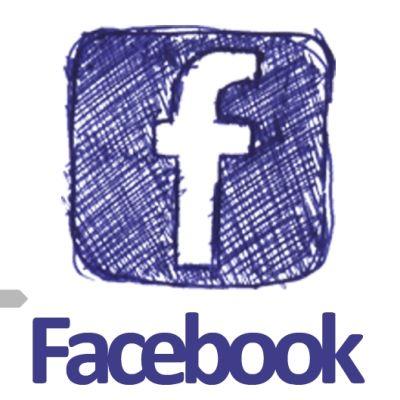 Facebooks logotyp, tecknad