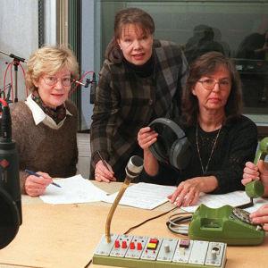 Eeva Hirvensalo, Riitta-Liisa Lampela, Leena Santalahti ja Veikko Ylikojola