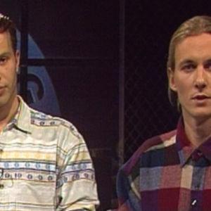 Janne Väänänen och Stefan Randström i Talking Heads, Yle 1993