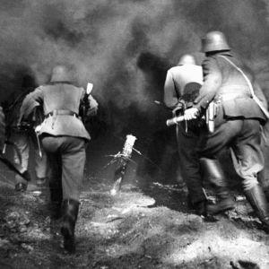 Soldater vid Hangöfronten, SA-bild 1941