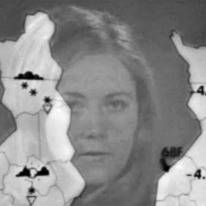 Monica Welling berättar vädret, 1972