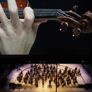 Emmanuel Tjeknavorian Sibelius-viulukilpailun finaalissa 2015.