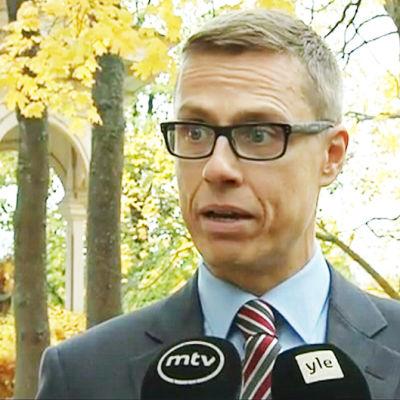 Stubb intervjuas om Anders Borg