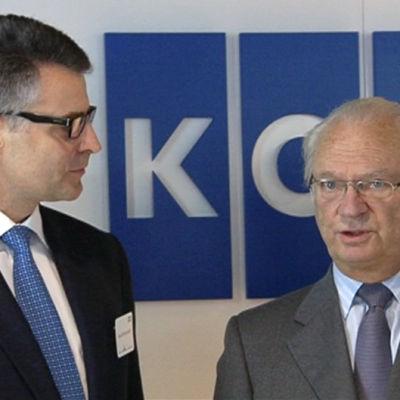 Sveriges kung Carl XVI Gustaf och Kones vd  Henrik Ehrnrooth.