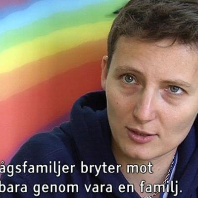 Polina från föreningen Coming Out i Ryssland