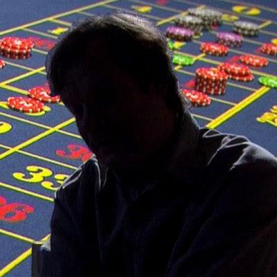 Man vid rulettbord, Yle 1996