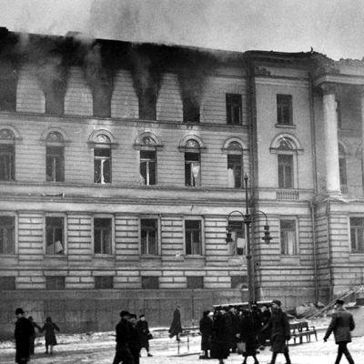 Helsingfors universitet bombas under fortsättningskriget, SA-bild 1944