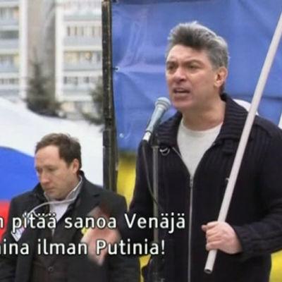 Boris Nemtsov puhumassa
