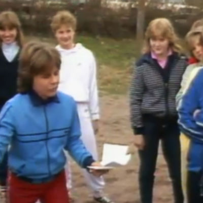 birgitta pennanen tränar med sina elever, 1985