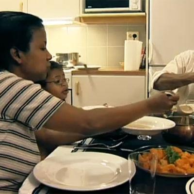 Familjen Haidar firar eid-al-fitr, 2006
