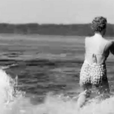 kvinna vattenskidar, 1952