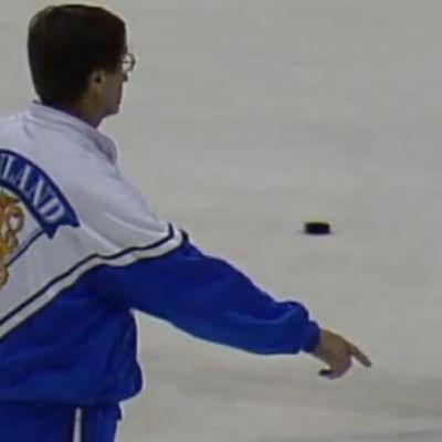 hockeytränare på isen