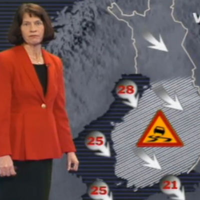 Meteorolog Pia Bremer varnar för kraftiga vindar och halka