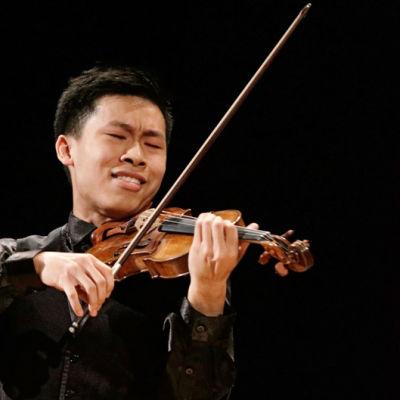 Kanadalainen Kerson Leong Sibelius-viulukilpailussa 2015.
