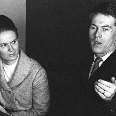 Gunnar Mattsson med fru, 1960