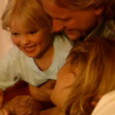 Familj vid förlossning, 1991