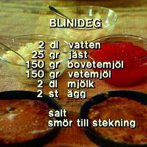 Recept på blinideg.