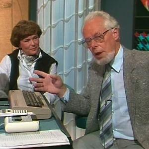 Martin Rehnberg lär sig att använda en datamaskin, Yle 1984