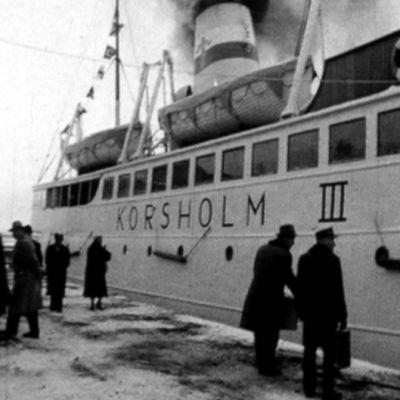Bilfärjan Korsholm III åkte mellan Vasa och Umeå åren 1958-1965.