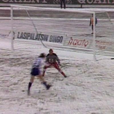 Fotboll i snö, Yle 1988