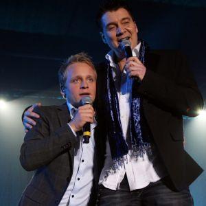 Geir tog upp Andreas Weise på scen för att diskutera Lets Dance