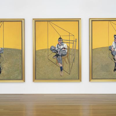 Francis Baconin Three Studies of Lucian Freud -teos.