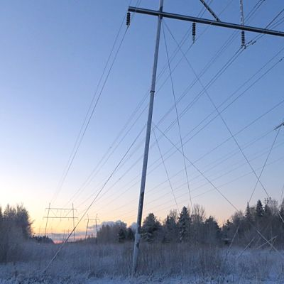 Sähkölinja Keminmaassa.