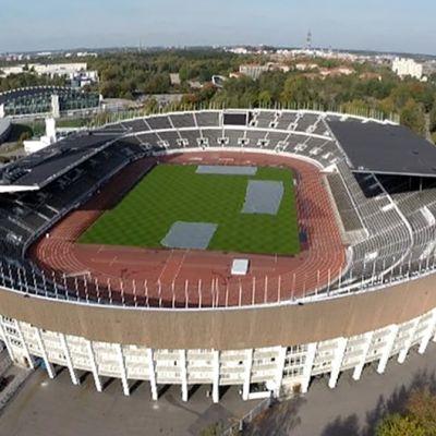 Helsingin olympiastadion.