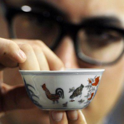Ming-dynastian aikaista kuppia esiteltiin Hongkongissa.