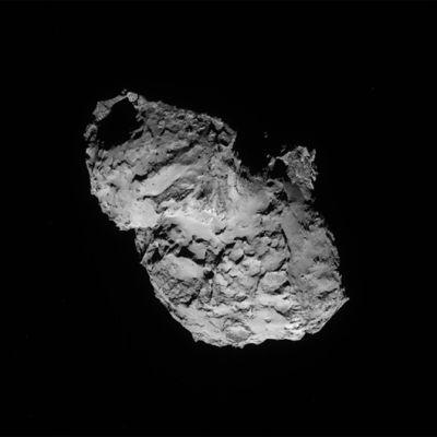 Rosettan komeetta Tshurjumov-Gerasimenkosta ottama kuva.