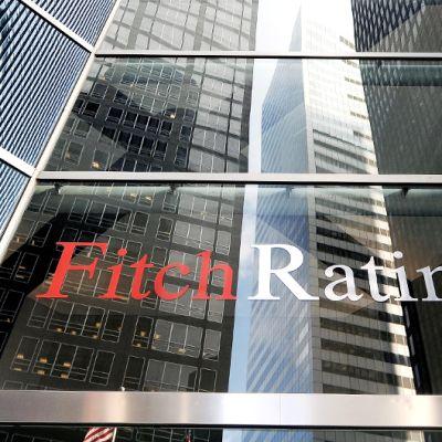 Luottoluokittaja Fitchin konttori New Yorkissa.