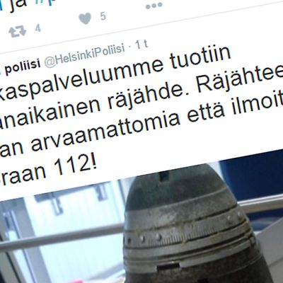 Ruutukaappaus Poliisin Twitter-tilistä 14. maaliskuuta 2016.