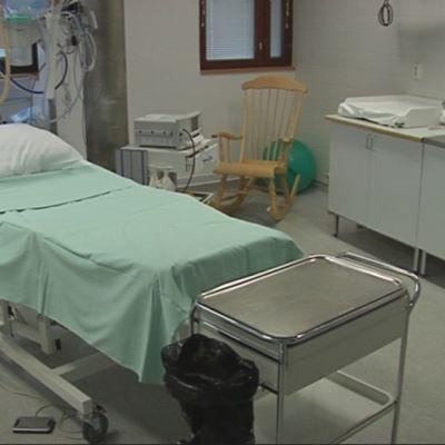 Synnytyssali Savonlinna keskuusairaalassa