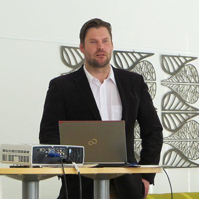 Sangen Oy:n hallituksen puheenjohtaja Mikko Ahokas.