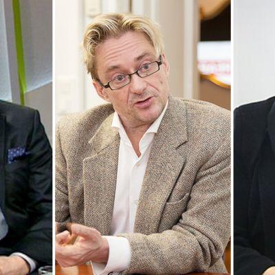 Matti Apunen, Mikael Jungner ja Taru Tujunen