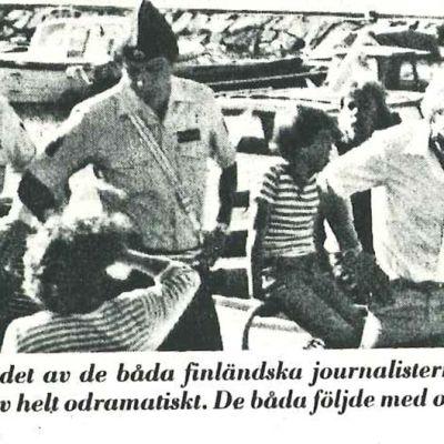 Kesätoimittaja Pirkko Kukko-Liedes pidätettiin vuonna 1983.