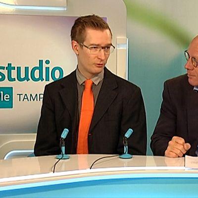 Yle Tampereen nettistudion vieraana Kimmo Sasi ja Oras Tynkkynen