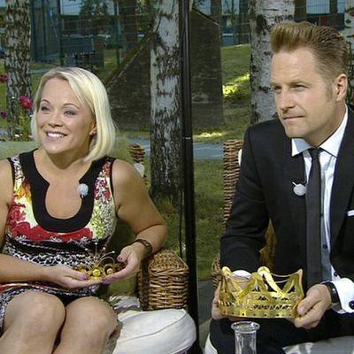 Tangokuningatar Heidi Pakarinen ja tangokuningas Kyösti Mäkimattila.