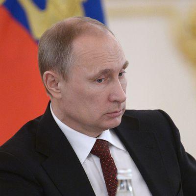 Venäjän presidentti Vladimir Putin kokouksessa Kremlissä Moskovassa.