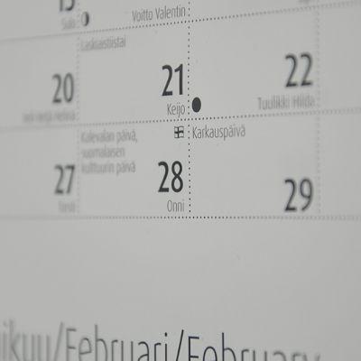 Seinäkalenteri.